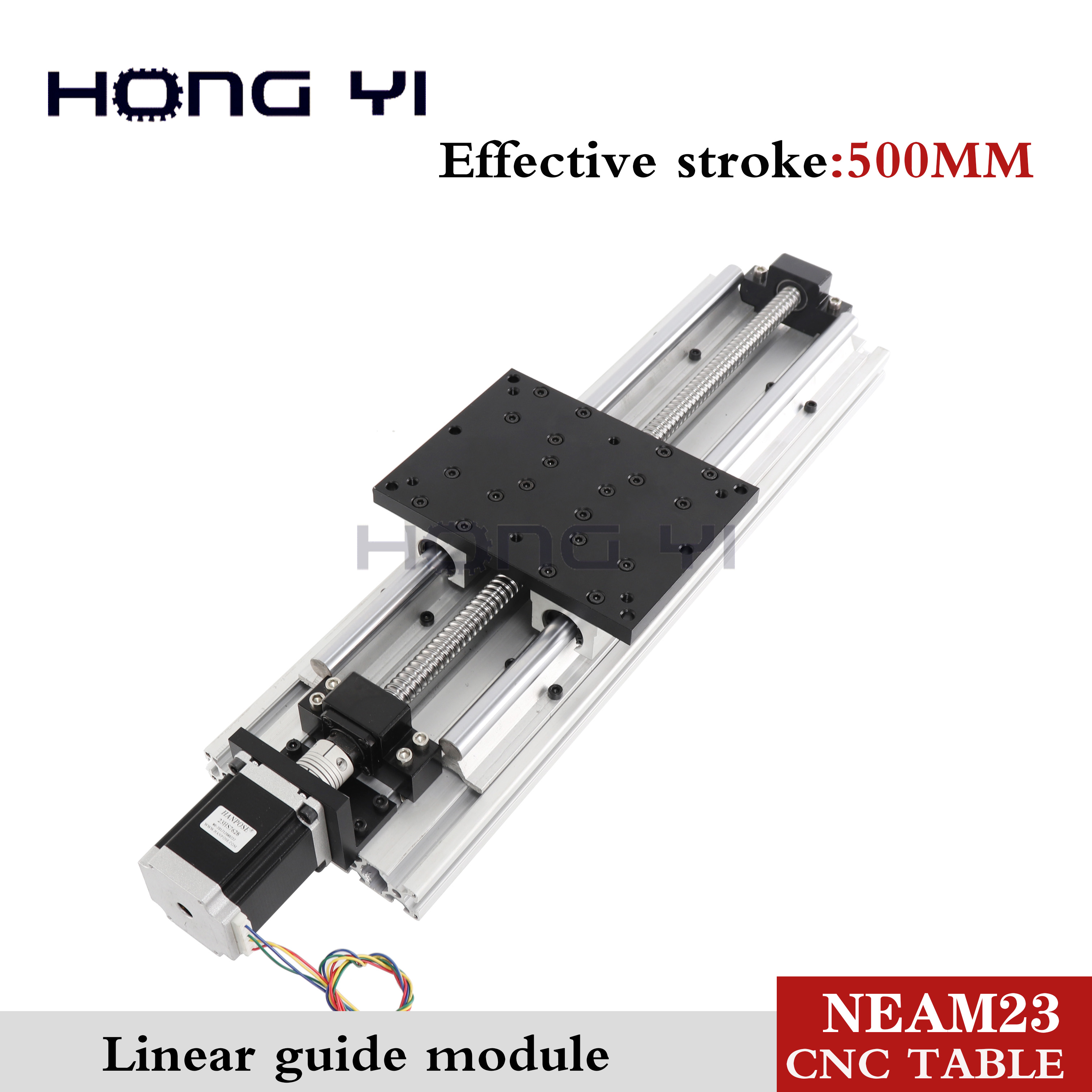 Best prices !! Linear Modules effective stroke 500mm Linear Guides SBR16 Ball screw NEMA 23 stepper motor for CNC table