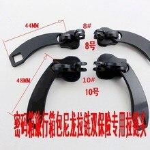 4 шт черный слайдер застежки-молнии с ключом отверстия 8#10# язычок нейлоновой застежки кода, Китай нейлон застежка-молния аксессуары «сделай сам»