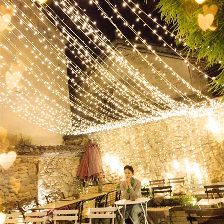 Thrisdar 100M 200M 250M 300M LED Holiday Christmas String Light 8 Mode Outdoor Garden Backyard Wedding Party Fairy Garland Light