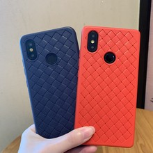 Weave Geweven Grid Soft TPU Silicone Cover Case Voor Xiao mi mi 8 9 9 t se A3 LITE ROOD mi note 5 plus 6 6A 7 7A 8 K20 PRO S2 COQUE(China)