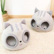 Niche amovible pour chat et chien, niche Semi-fermée, tapis de sommeil profond, maison pour animaux de compagnie, produits pour animaux de compagnie