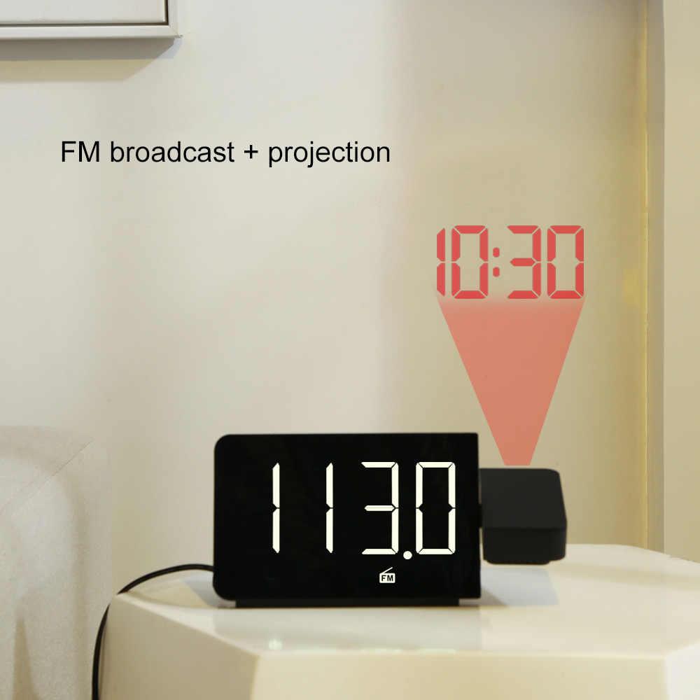 Báo Động Đồng Hồ Để Bàn Điện Tử Kỹ Thuật Số Để Bàn Đồng Hồ Báo Lại Chức Năng Đài FM To Dây Đèn LED Với Thời Gian Trình Chiếu