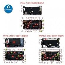 PHONEFIX Premium Full Screw Set Black Color for iPhone 6 6p 6S 6SP 7 7P 8 8P Mobile