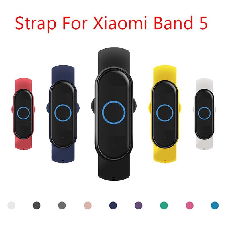 Ремешок для Xiaomi Mi Band 5 4 3 Силиконовый Браслет замена ТПУ силиконовый ремешок для Xiomi Mi Band5 miband 5 4 3|Смарт-аксессуары|   | АлиЭкспресс