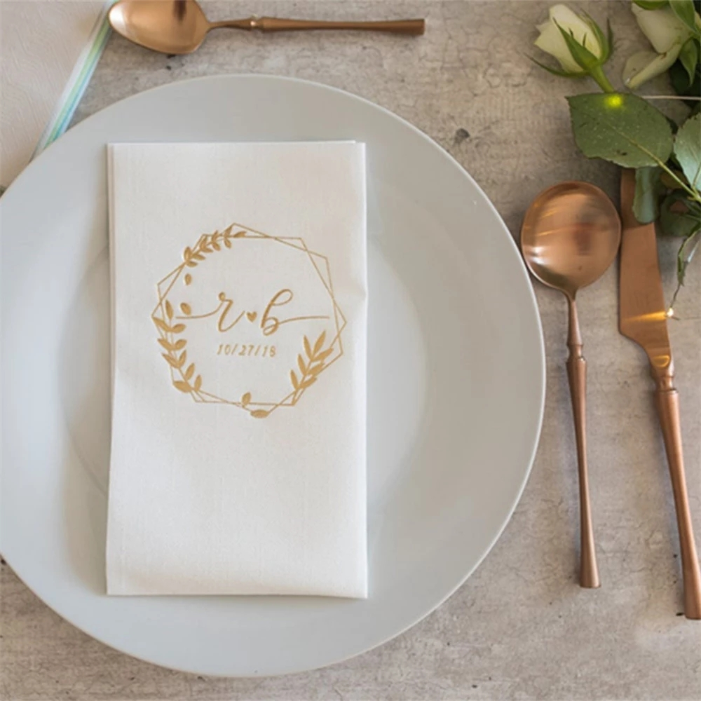 wedding : Personalized napkinsnapkins serwetki Bedruckte Servietten Hochzeit custom Napkins Wedding napkins Decorpress Monogram