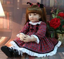 RCtown 60cm Bebe Beborn simulé poupée grande taille Reborn enfant en bas âge princesse Silicone Adorable réaliste bébé filles poupée