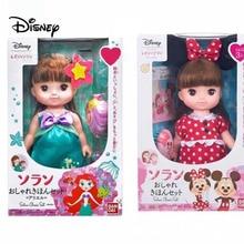 Disney Minnie Figure Cute Mini Minnie Mikey Mermaid Ariel princess blink doll Cartoon Action Figure Toys For kids Christmas Gift