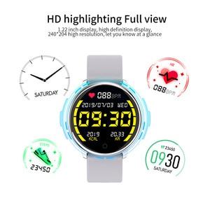 Image 2 - Rundoing relógio inteligente r7 esportivo, smartwatch com tela de 1.22, à prova d água, monitor de pressão sanguínea e oxigênio, para homens e mulheres, android e ios