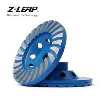 Z LEAP 4 Diamond Cup Wheel With M14 Thread Concrete Granite Marble Grinding Wheel Wet Use Turbo Abrasive Tool For Angle Grinder