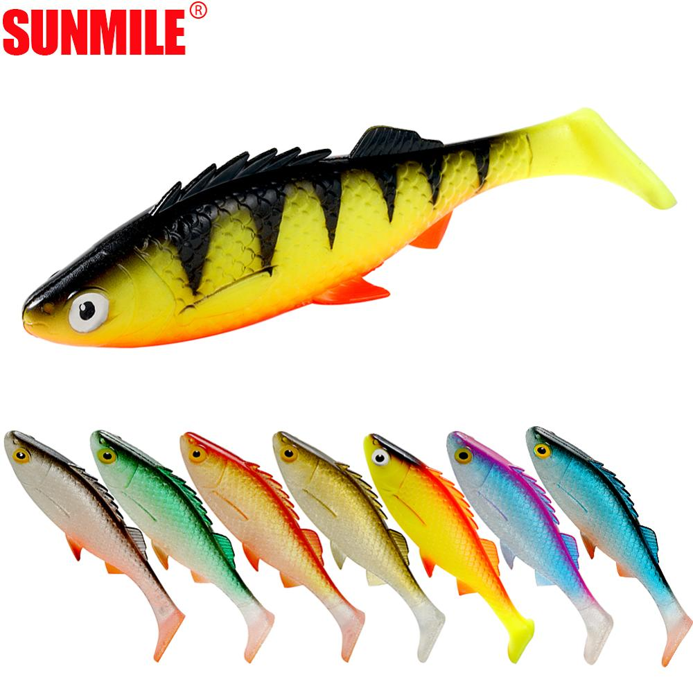 SUNMILE Pike Fishing Lure 38g/155mm <font><b>Big</b></font> <font><b>Soft</b></font> Plastic Shads Swimbaits Wobbler Rig fishing Rigging <font><b>Soft</b></font> Plastic Lures <font><b>Soft</b></font> <font><b>Bait</b></font> image
