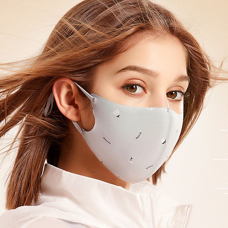Women Winter Dustproof 3 Layers Mouth Mask Tree Letter Print Washable Respirator Premium Quality