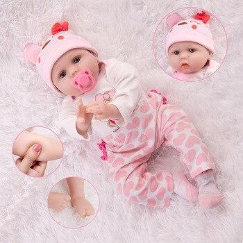 55CM Baby Dolls Toys Full Body Soft Silicone Girls Toys Rebirth Doll Kids Like Alive Princess Bebe Newborn Doll Birthday Gifts