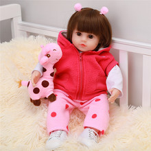 22'' New Reborn Baby Cloth Baby Doll Soft Touch Reborns Toddlers Doll Cute Realistic Princess Baby Kids Playmate Kid Gifts цена 2017