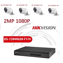 HD Hikvision English Version 2MP 1080P 4CH DVR with4 cameras Video Surveillance System DVR Kits недорого