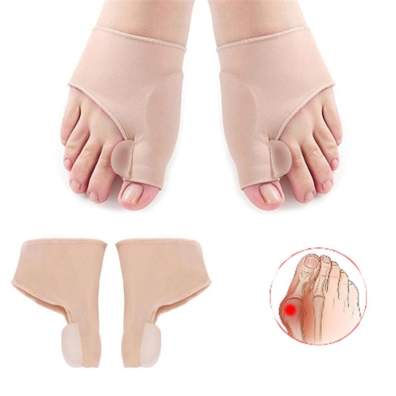 1Pair Pedicure Socks Big Bone Orthopedic Bunion Correction Silicone Hallux Valgus Corrector Braces Toes Separator Foot Care Tool