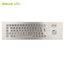 Водонепроницаемая usb клавиатура из нержавеющей стали ip65 на