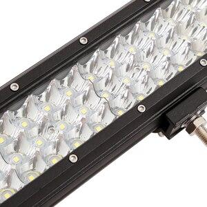 """Image 5 - Barres lumineuses de travail lampe LED tout terrain/288W, 9 34 """", puissance lumineuse LED pour tracteur, bateau, 4WD, camion, 4x4, SUV, ATV"""