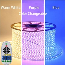 GD Dimmable LED Strip 15-50M Dual Color changeable 5730 120LEDs/M Light Tape WW+Blue / WW+CW Changeable Rope