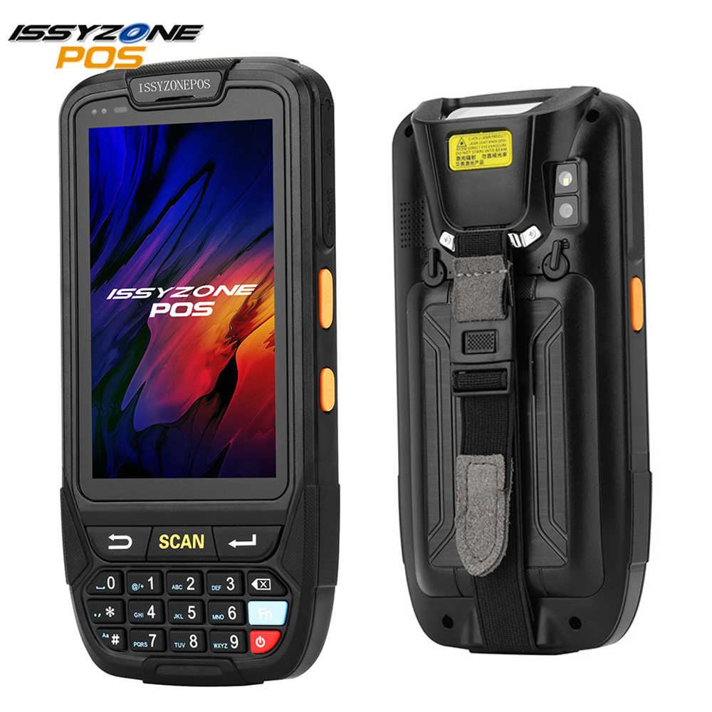 Issyzonepos Pda Barcode Scanner Handheld Pos Terminal Android 7.0 4G Mobiele Data Terminal 2D Afbeelding Barcode Reader IPDA018