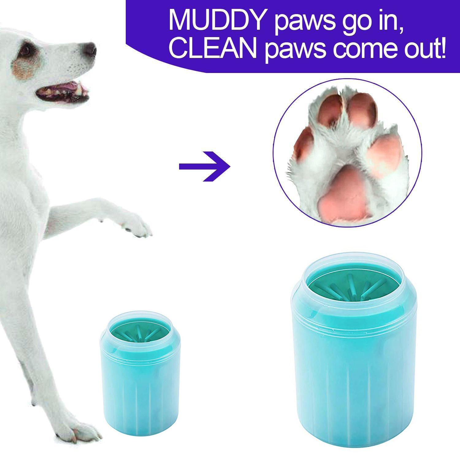 Soft font b Pet b font Dog Paw Cleaner Silicone Foot Cleaning Washer Brush Cup