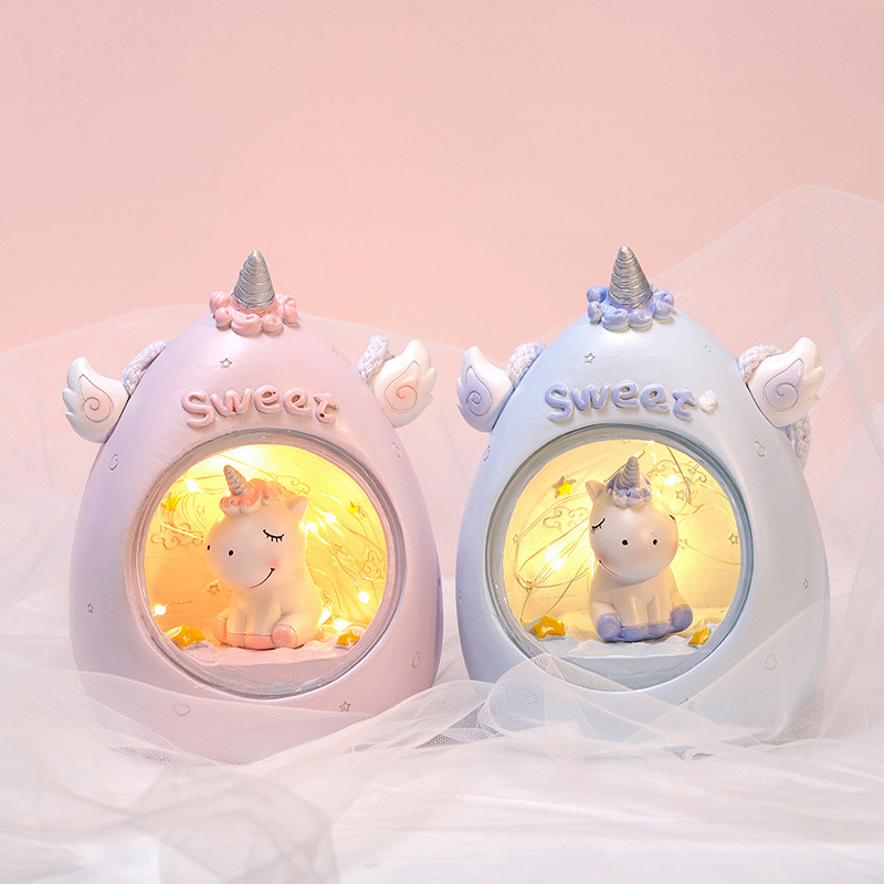 Large Size Unicorn LED Novetly Light For Children Baby Kid Bedside Lamp Children Toy Animal Bedroom Decor Lighting Birthday Gift
