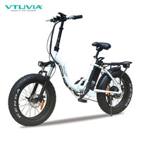 VTUVIA best sale 7 Speed Derailleur electric bicycle 20 inch Fat tire e bike with 12Ah Lithium battery