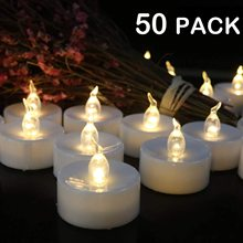 METABLE 50PCS Flameless LED Candles Battery Operated Tea Lights Long Lasting Tealight for Wedding Holiday Party Home Decoration 10 pcs red led electric candles flameless tea lights fake velas flame votive timer tealight home xmas tree festive wedding decor