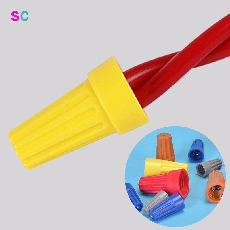 10 pces/20 pces conector rápido tampão de mola terminal de extremidade de friso AWG24-7 isolado conexão de fio de gerencio de emenda de inserção elétrica