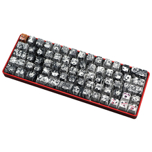 PBT 71 ключ Ahegao Keycap краситель сублимации OEM профиль японского аниме Keycap для вишневого Gateron переключатель Kailh GK61 GK64 клавиатура