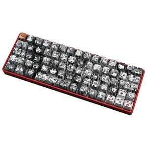 PBT 71 key Ahegao Keycap Dye Sublimation OEM Profile Japanese Anime Keycap For Cherry Gateron Kailh switch GK61 GK64 Keyboard