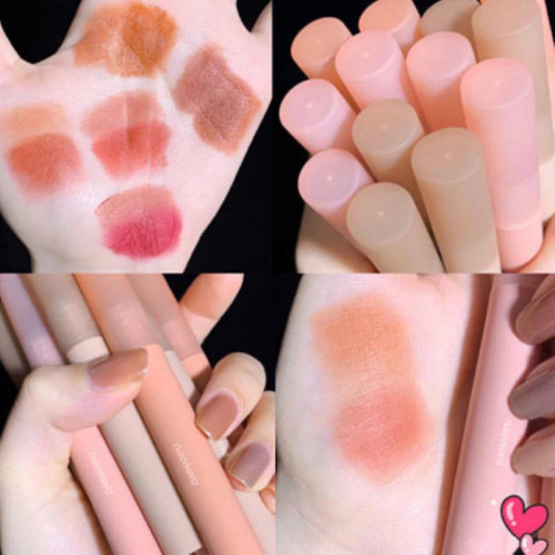 Chestnut Velvet Matte Liquid Lipstick Waterproof Lip Gloss Long Lasting Nude Lipstick Women Red Lip Tint Beauty Cosmetic TSLM2 4