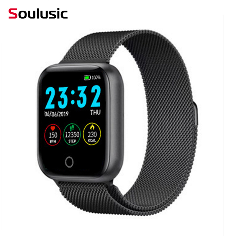 Soulusic I5 IWO Smart Watch Pedometer Multiple Dials Heart Rate Fitness Smartwatch For Android IOS Phone PK B57 P68