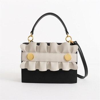 2020 New Retro Women's Bag Genuine Leather Small Flap Shoulder Messenger Bag Crossbody Bags For Women Sac Main Femme