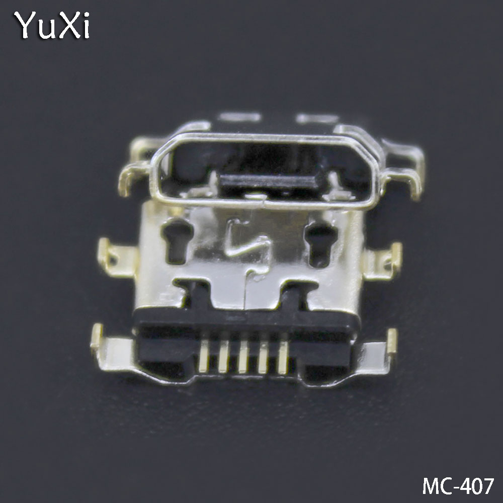 YuXi 10PCS/lot Micro usb charge charging connector plug For <font><b>Alcatel</b></font> <font><b>6035R</b></font> Idol S 4033 4033D POP C3 dock socket charger port image