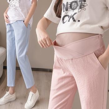 Celana Pinggang Pregnancy Bahan Linen 1