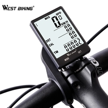 WEST BIKING Waterproof Bicycle Computer With Backlight Wireless Wired Bicycle Computer