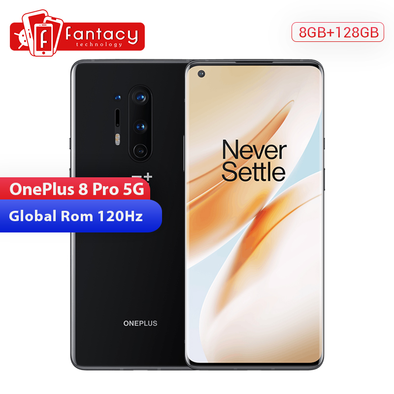 In Stock Global Rom Oneplus 8 Pro 5G Smartphone Snapdragon 865 8G 128G 6.78'' 3180x1440 120Hz Screen 30W Wireless Charger NFC