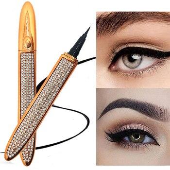 1Pcs Black Eyeliner Waterproof Liquid Eye Pencil Liner Quick Drying Non Magnetic No Glue Eyeliner Pencil Eyes Makeup Tools 1