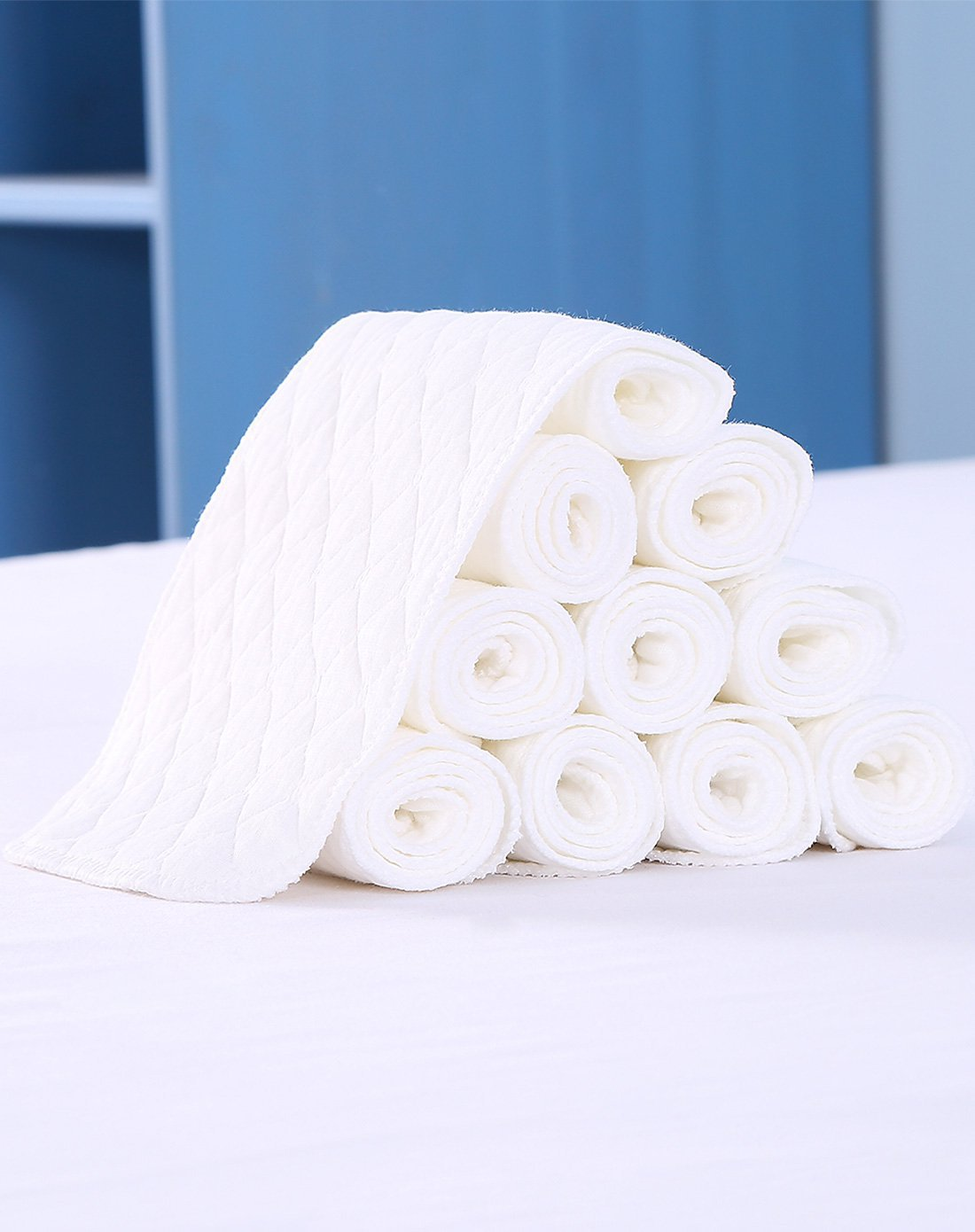 100% For Baby 46*17cm Baby Diaper Baby Nappies Baby Infant Newborn Cloth Diaper Nappy Liners Insert 3 Layers Cotton Hot Sale