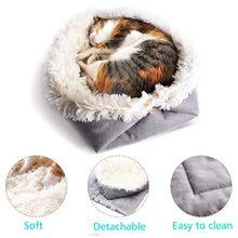 Süper yumuşak köpek yatağı yuvarlak yıkanabilir moda köpek yatağı kulübesi küçük kedi Pet köpek yuvarlak yatak ev yumuşak sıcak ped köpek sepeti pet paspaslar