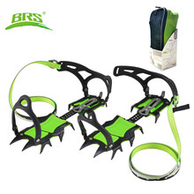 BRS 14 Teeth Claws Crampons Shoes Ice Crampons Snow Non slip Cover Ice Gripper Professional Manganese Steel Outdoor Hiking Climb