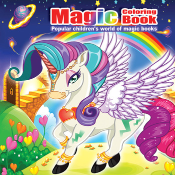 22 Pages Pony Painting Drawing Kill Time Book Will Moving DIY Children's Puzzle Magic Coloring - discount item  5% OFF Books