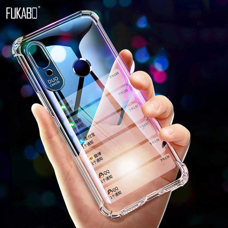 Silicone Caso À Prova de Choque Para Redmi Nota 7 5 6 Pro 4 4X5 Plus 6A 5A 4A Caixa Transparente para Xiaomi 8 A2 Lite 9 SE 5 6 6X Capa