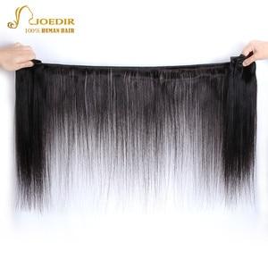 Image 2 - Joedir mèches de cheveux non remy brésiliennes lisses, pré colorées, avec Closure, lot de 3, livraison gratuite