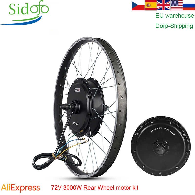 MXUS E Bike Kit Rear Wheel motor 48/60V/72V90V 3000W Electric Bike Conversion Kit High Speed Brushless Hub Motor XF40 26/29 inch