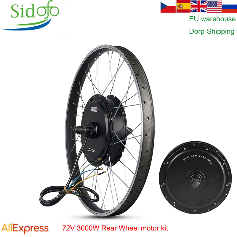 MXUS E Bike Kit Rear Wheel <font><b>motor</b></font> 48/60V/72V90V <font><b>3000W</b></font> Electric Bike Conversion Kit High Speed <font><b>Brushless</b></font> Hub <font><b>Motor</b></font> XF40 26/29 inch image