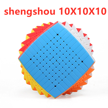 shengshou 10x10x10 Magic Cube 10x10 Speed 10 Layers big cubo magico for Children Gifts Chanllenge educational toys