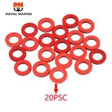 Selo vermelho junta inferior embalagem para yamaha hidea motor de popa peças de motor 20 peças 332-60006-0 332-60006 barco a motor