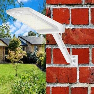 Image 5 - 2020 새로운 56 led 태양 빛 야외 방수 태양 램프 모션 센서 벽 빛 거리 정원 보안 원격 스포트 라이트 #