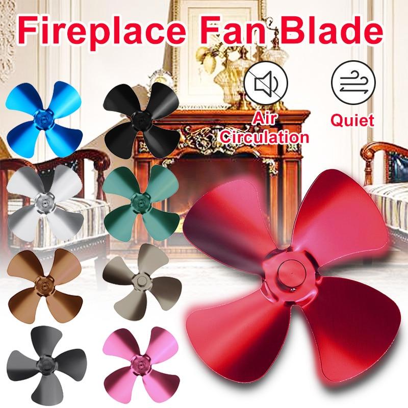 High Quality Multicolor Stove Fan Blade 4 Blade Aluminum Fireplace Fan Heat Powered Komin Wood Burner Eco Fan Blade Replacement